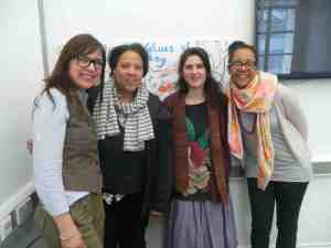 The Cultural Values Team with artist Lyndsey